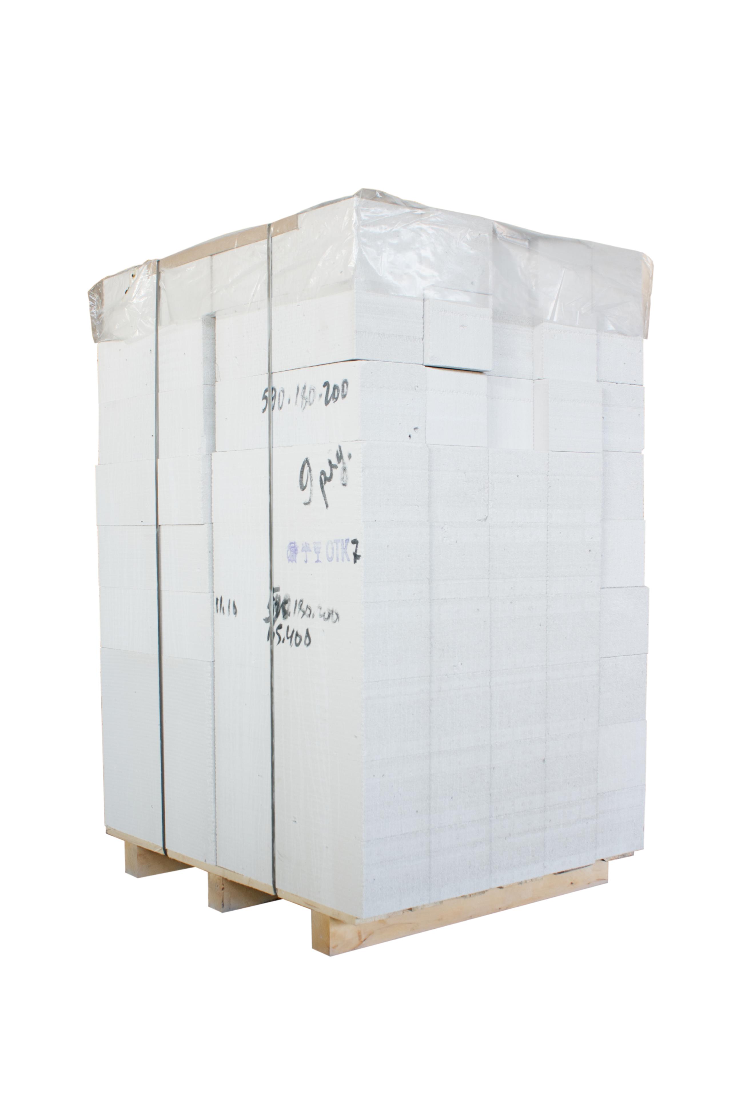 Блок из ячеистого бетона автоклавного твердения, 2 категории (для кладки на раствор на поддоне) производства ОАО Могилевский КСИ РБ