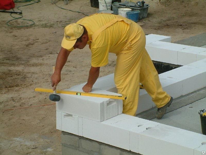 Как осуществить монтаж стен из 'ячеистого?